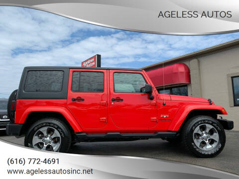2017 Jeep Wrangler Unlimited for sale at Ageless Autos in Zeeland MI