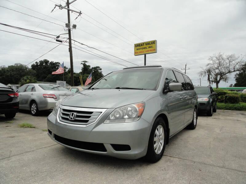 2010 Honda Odyssey for sale at GREAT VALUE MOTORS in Jacksonville FL