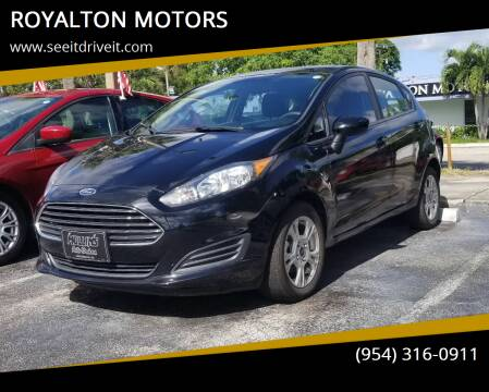 2019 Ford Fiesta for sale at ROYALTON MOTORS in Plantation FL