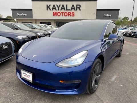 2019 Tesla Model 3 for sale at KAYALAR MOTORS in Houston TX