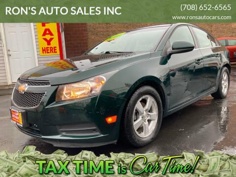 2014 Chevrolet Cruze for sale at RON'S AUTO SALES INC in Cicero IL