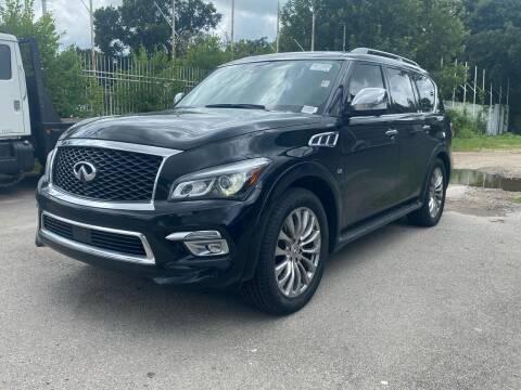 2017 Infiniti QX80 for sale at Texas Luxury Auto in Houston TX