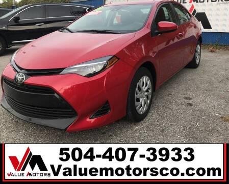 2018 Toyota Corolla for sale at Value Motors Company in Marrero LA