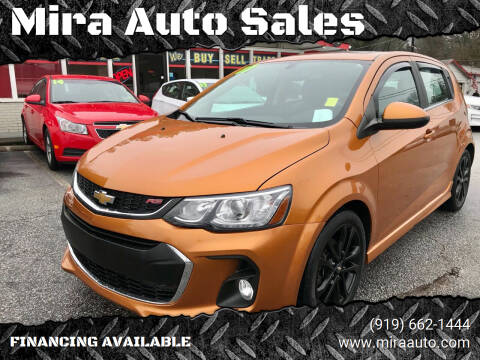2017 Chevrolet Sonic for sale at Mira Auto Sales in Raleigh NC
