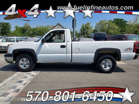 2004 Chevrolet Silverado 1500 for sale at FUELIN FINE AUTO SALES INC in Saylorsburg PA