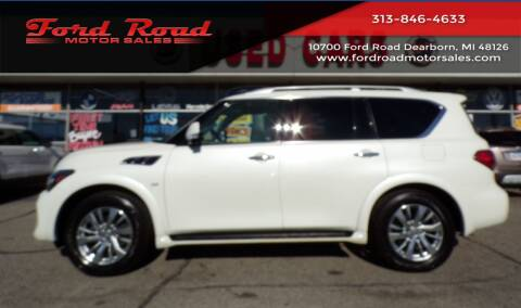 2017 Infiniti QX80 for sale at Ford Road Motor Sales in Dearborn MI