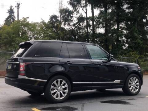 2015 Land Rover Range Rover for sale at CLEAR CHOICE AUTOMOTIVE in Milwaukie OR