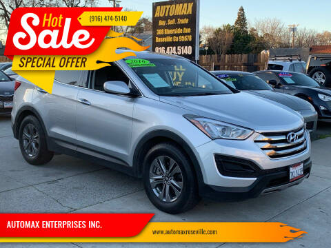 2016 Hyundai Santa Fe Sport for sale at AUTOMAX ENTERPRISES INC. in Roseville CA