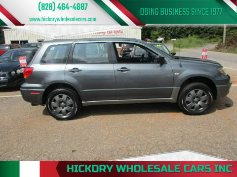 2004 Mitsubishi Outlander for sale at Hickory Wholesale Cars Inc in Newton NC