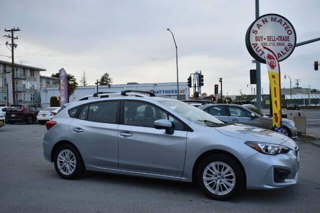 2018 Subaru Impreza for sale at San Mateo Auto Sales in San Mateo CA