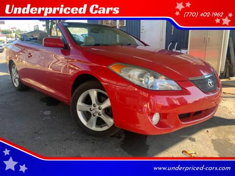 2005 Toyota Camry Solara for sale at Underpriced Cars in Marietta GA