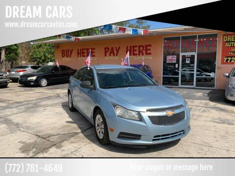 2012 Chevrolet Cruze for sale at DREAM CARS in Stuart FL