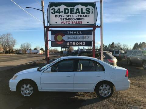 2001 Honda Civic for sale at 34 Deals LLC in Loveland CO