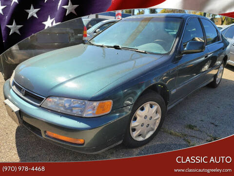 1996 Honda Accord for sale at Classic Auto in Greeley CO