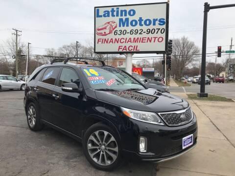 2014 Kia Sorento for sale at Latino Motors in Aurora IL