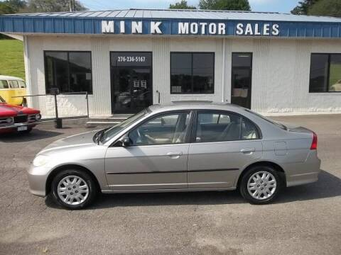 2005 Honda Civic for sale at MINK MOTOR SALES INC in Galax VA