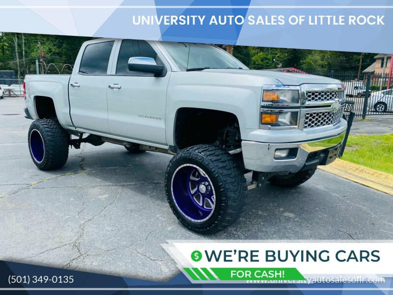 2014 Chevrolet Silverado 1500 for sale at University Auto Sales of Little Rock in Little Rock AR