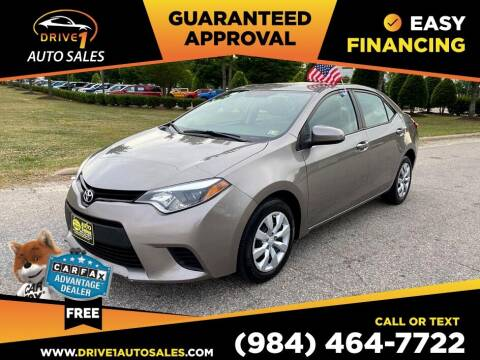 2014 Toyota Corolla for sale at Drive 1 Auto Sales in Wake Forest NC
