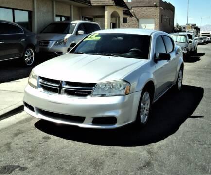 2012 Dodge Avenger for sale at DESERT AUTO TRADER in Las Vegas NV