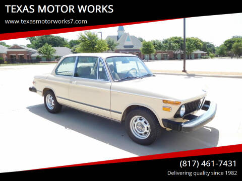 1976 BMW 2002 for sale at TEXAS MOTOR WORKS in Arlington TX