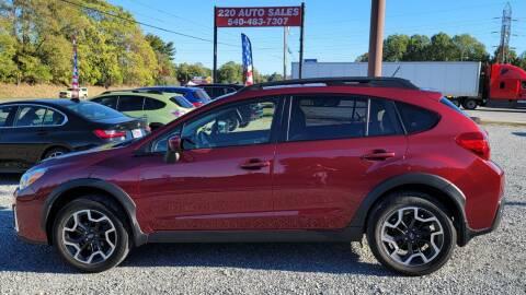2016 Subaru Crosstrek for sale at 220 Auto Sales in Rocky Mount VA