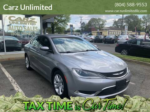 2015 Chrysler 200 for sale at Carz Unlimited in Richmond VA