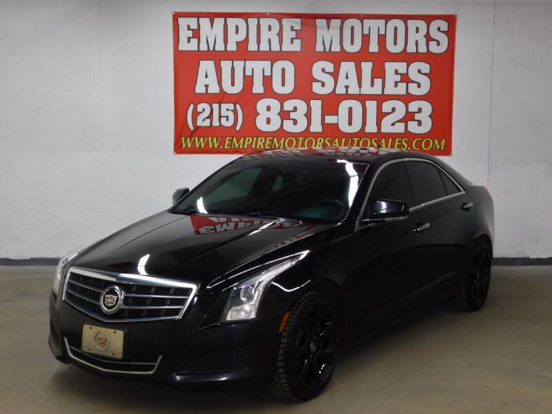2013 Cadillac ATS for sale at EMPIRE MOTORS AUTO SALES in Philadelphia PA