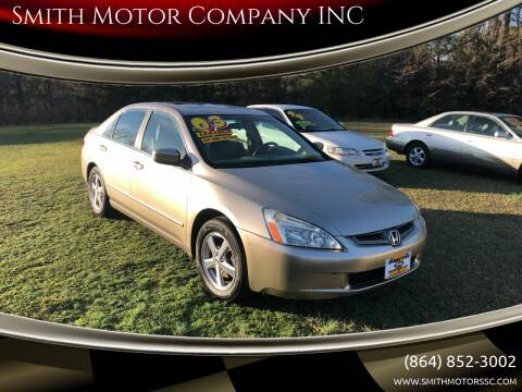2003 Honda Accord for sale at Smith Motor Company INC in Mc Cormick SC