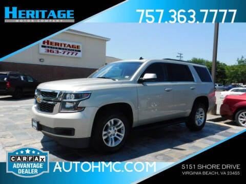 2015 Chevrolet Tahoe for sale at Heritage Motor Company in Virginia Beach VA