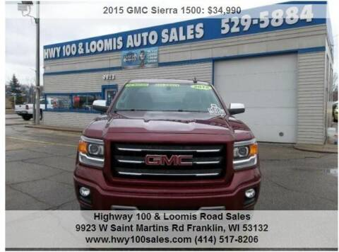 2015 GMC Sierra 1500 for sale at Highway 100 & Loomis Road Sales in Franklin WI