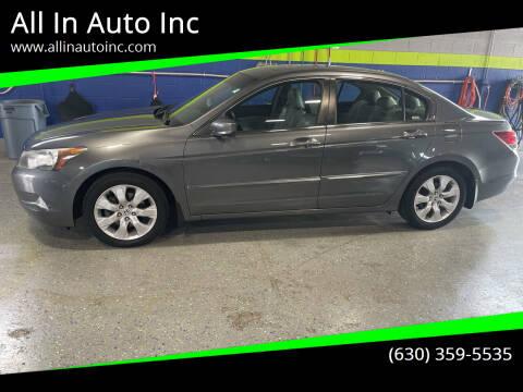 2008 Honda Accord for sale at All In Auto Inc in Addison IL