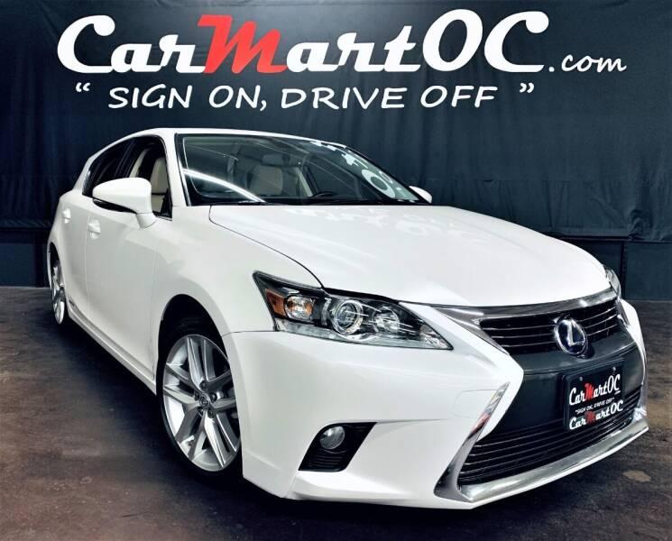 2016 Lexus CT 200h for sale at CarMart OC in Costa Mesa, Orange County CA
