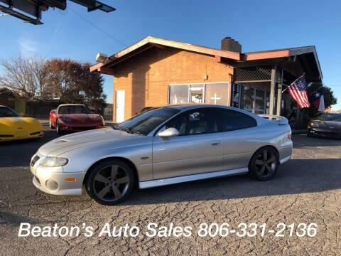 2006 Pontiac GTO for sale at Beaton's Auto Sales in Amarillo TX