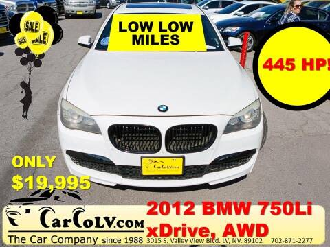 2012 BMW 7 Series for sale at The Car Company in Las Vegas NV