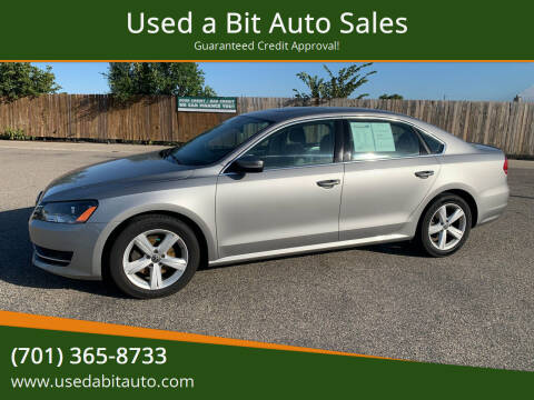 2013 Volkswagen Passat for sale at Used a Bit Auto Sales in Fargo ND