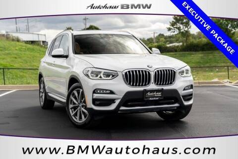2019 BMW X3 for sale at Autohaus Group of St. Louis MO - 3015 South Hanley Road Lot in Saint Louis MO
