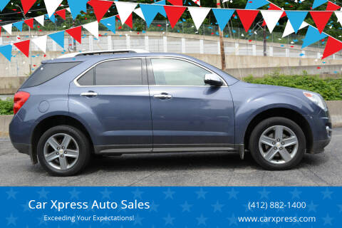 2014 Chevrolet Equinox for sale at Car Xpress Auto Sales in Pittsburgh PA