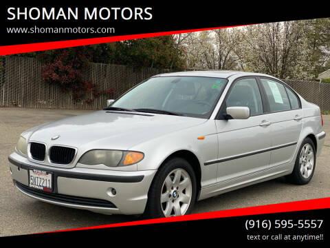 2005 BMW 3 Series for sale at SHOMAN MOTORS in Davis CA