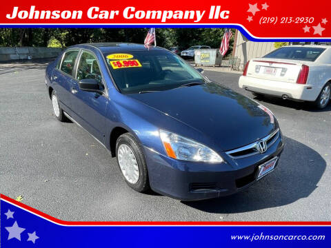 2006 Honda Accord for sale at Johnson Car Company llc in Crown Point IN