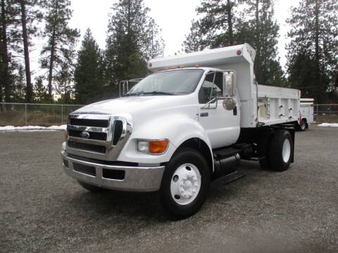 2009 Ford F750 2 Axel Dump Truck for sale at BJ'S COMMERCIAL TRUCKS in Spokane Valley WA