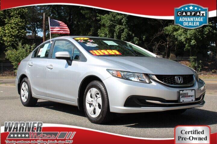 2014 Honda Civic for sale at Warner Motors in East Orange NJ