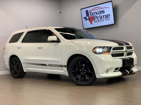 2012 Dodge Durango for sale at Texas Prime Motors in Houston TX