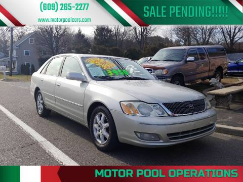 2002 Toyota Avalon for sale at Motor Pool Operations in Hainesport NJ