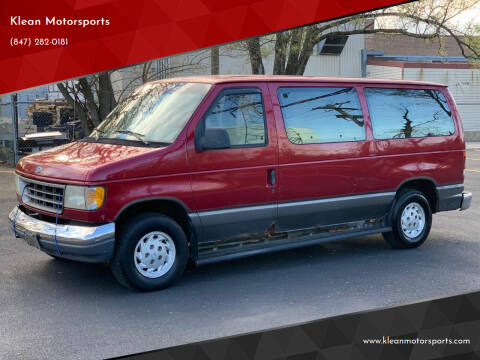 1994 Ford E-150 for sale at Klean Motorsports in Skokie IL