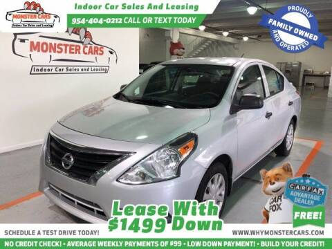 2015 Nissan Versa for sale at Monster Cars LLC - Lease Vehicles in Pompano Beach FL