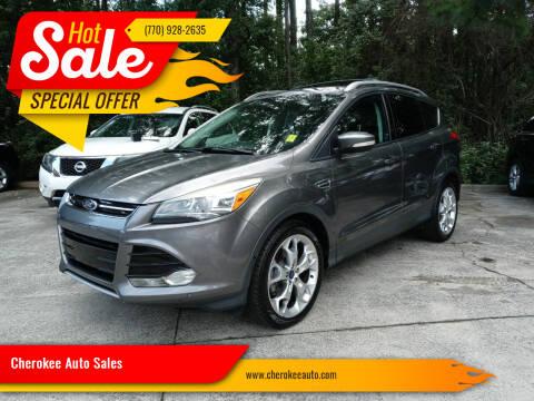 2014 Ford Escape for sale at Cherokee Auto Sales in Acworth GA