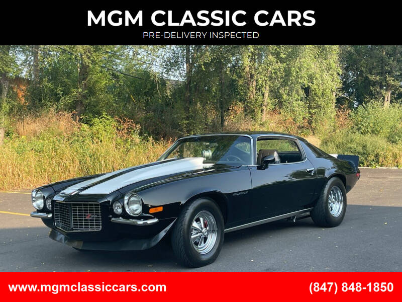 1971 Chevrolet Camaro for sale at MGM CLASSIC CARS-New Arrivals in Addison IL