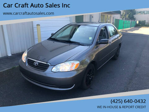 2006 Toyota Corolla for sale at Car Craft Auto Sales Inc in Lynnwood WA