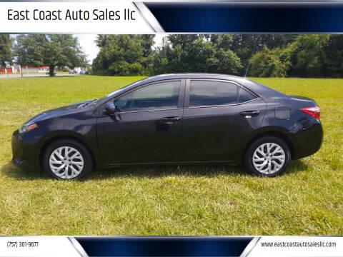 2018 Toyota Corolla for sale at East Coast Auto Sales llc in Virginia Beach VA
