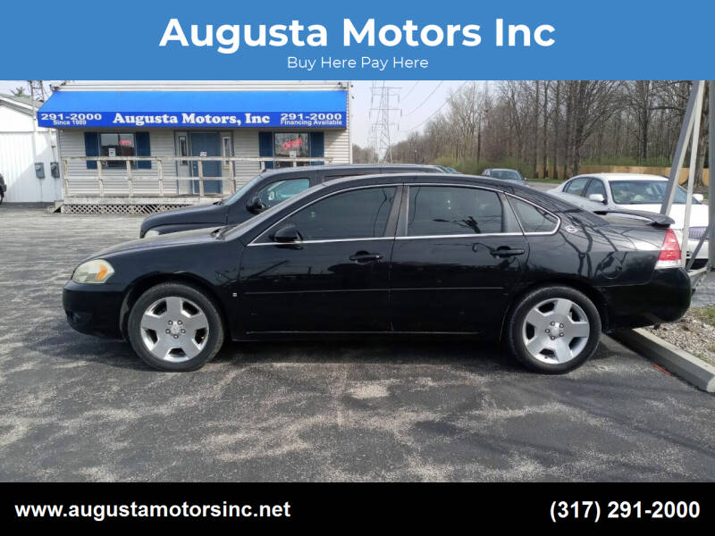2008 Chevrolet Impala for sale at Augusta Motors Inc in Indianapolis IN